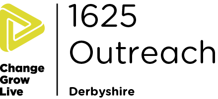 1625 Outreach Derbyshire logo in colour