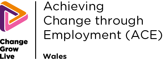 Achieving Change(ACE) logo in colour
