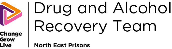 Drug and Alcohol Recovery NE Prisons logo in colour