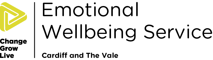 Emotional Wellbeing Cardiff Vale logo in colour