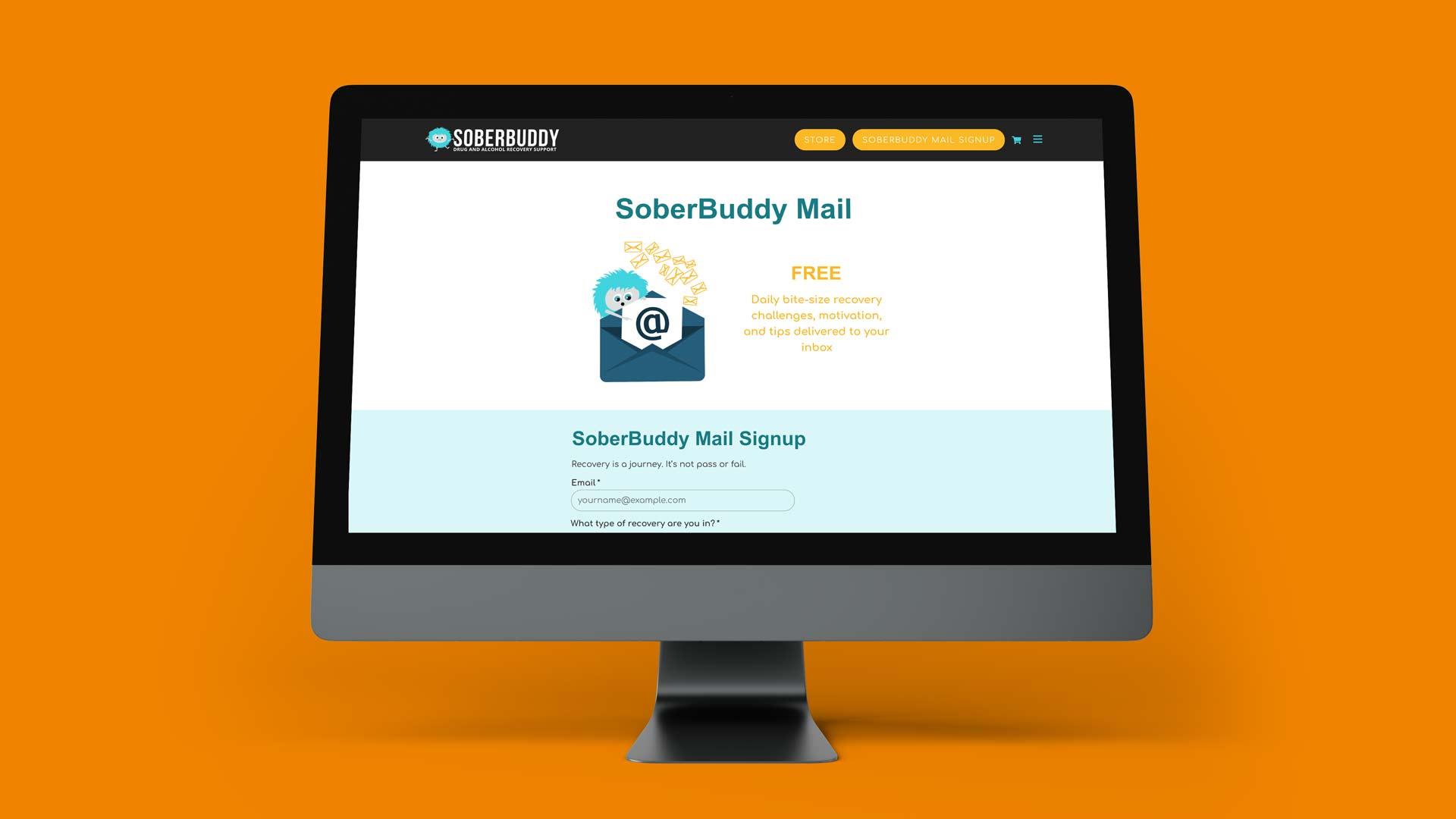 SoberBuddy website