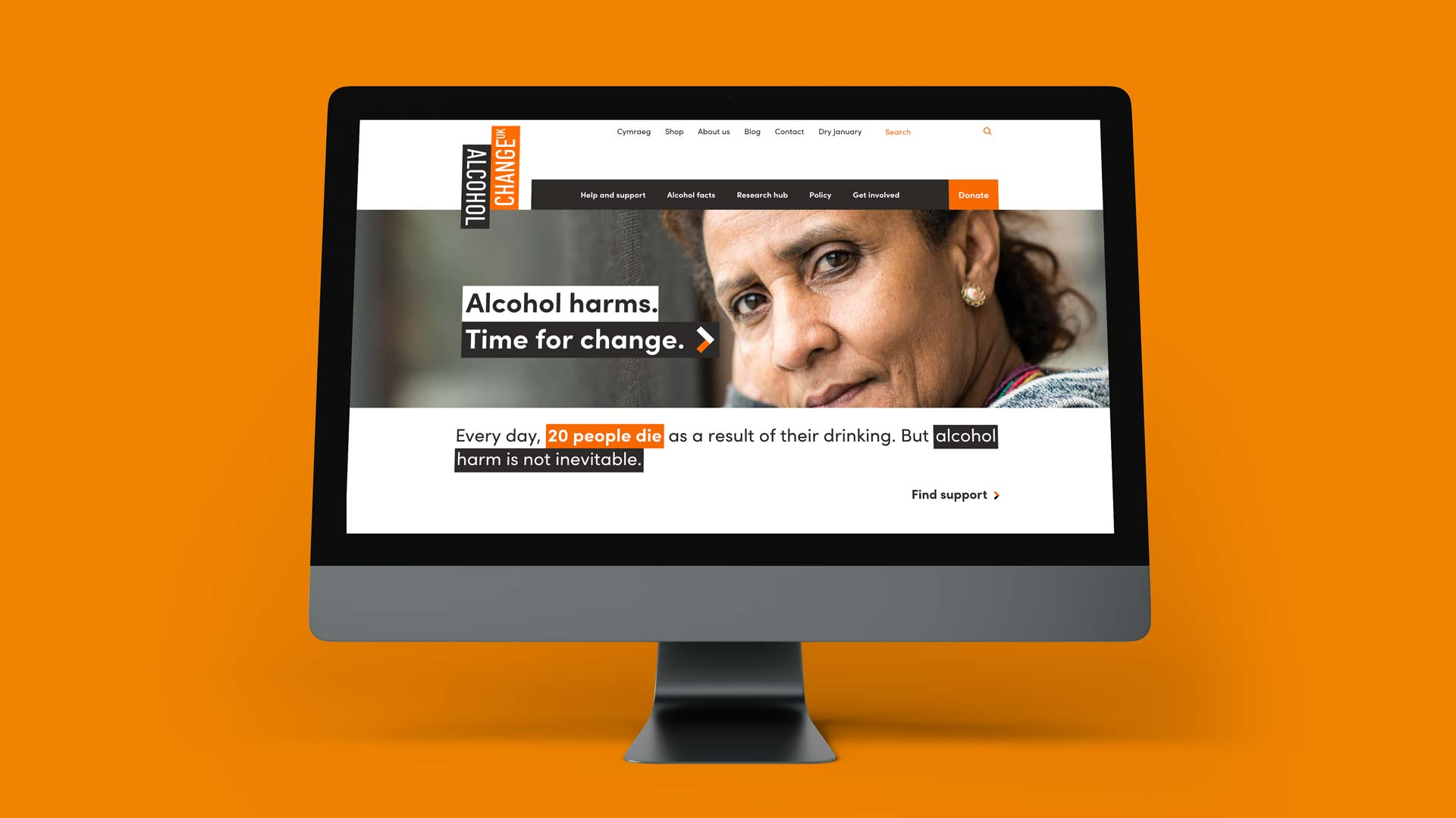 Alcohol Change UK website