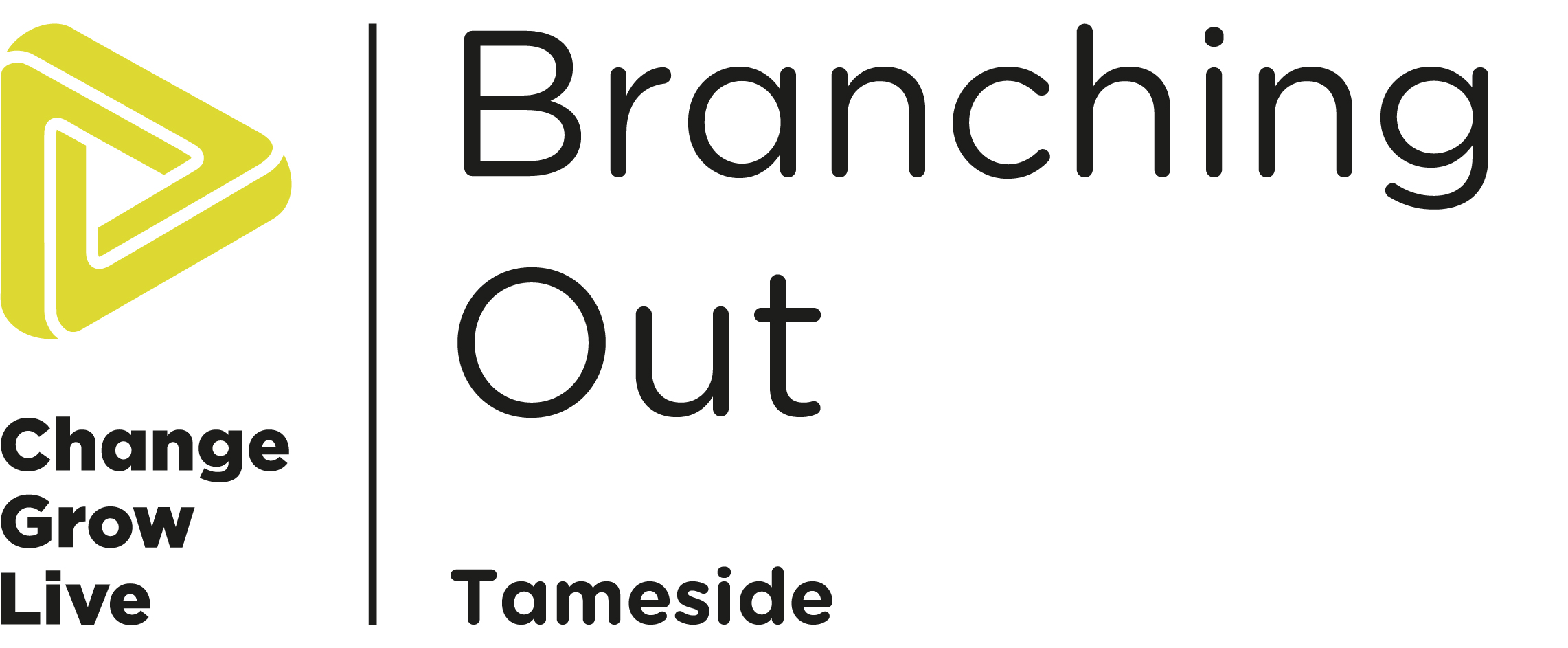 The Branching Out Logo in black