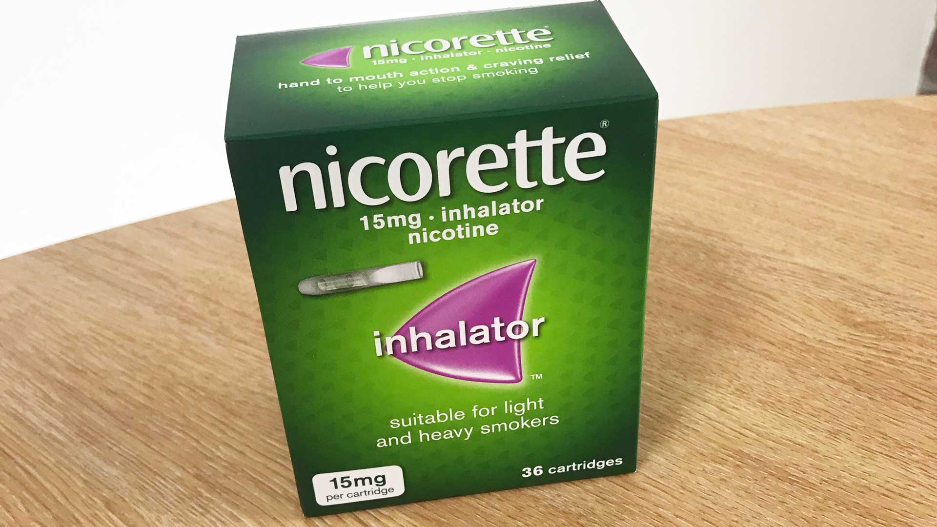 Photo of a nicorette inhalator