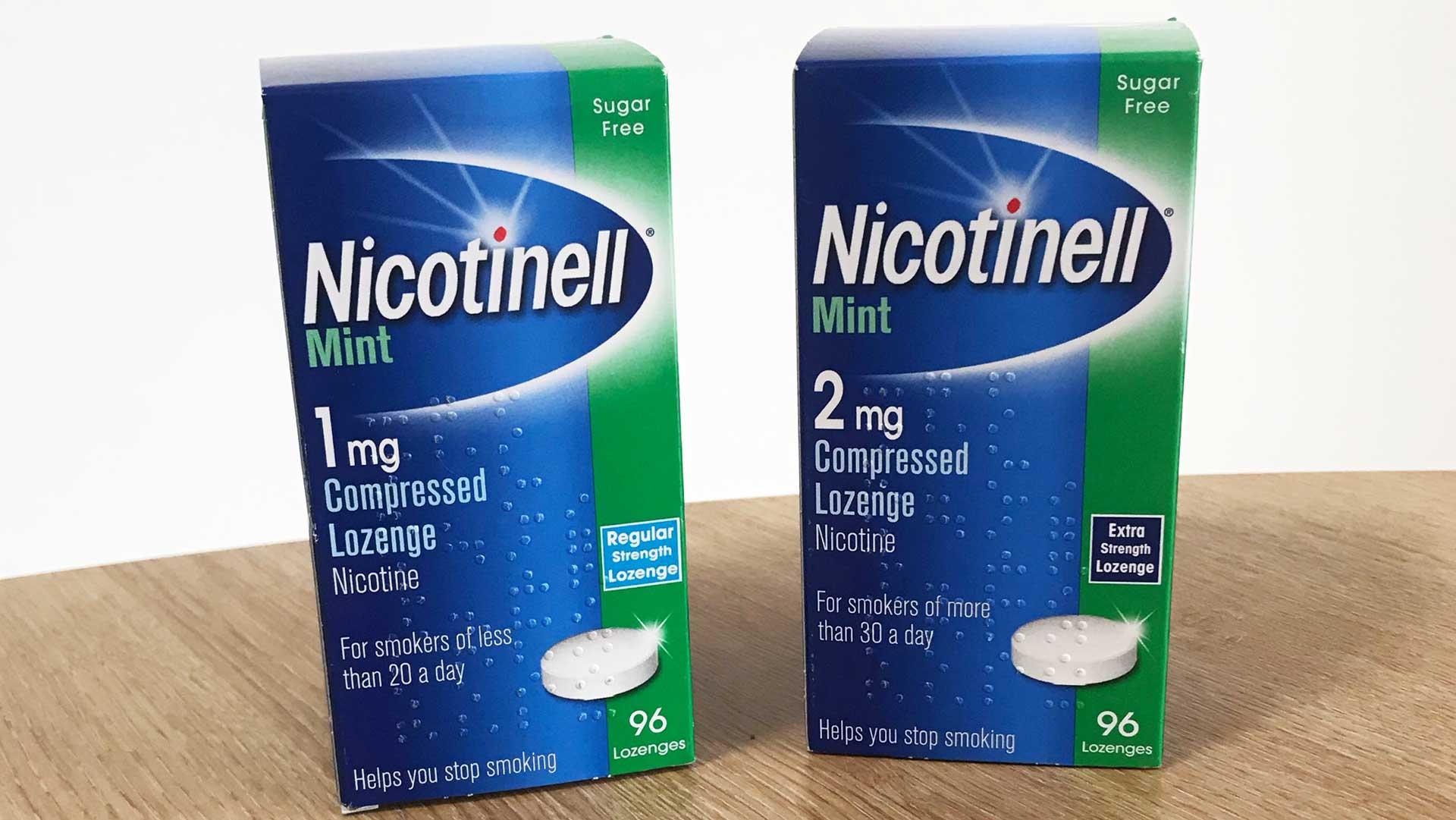 Photo of nicotine lozenges