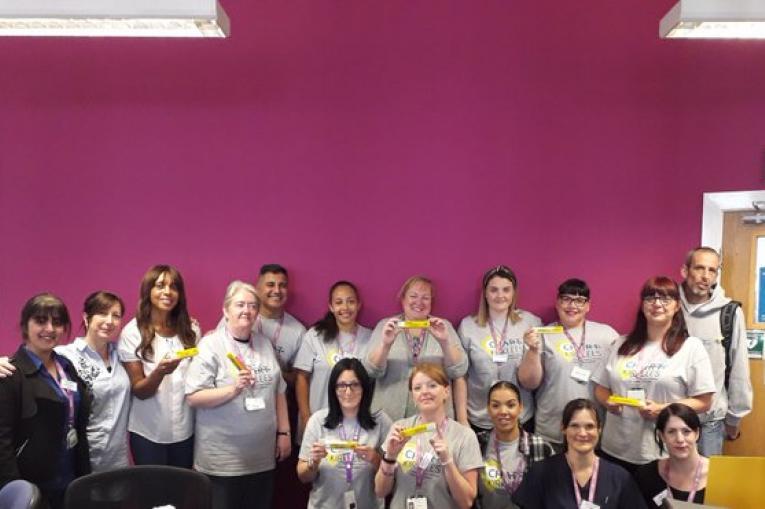 The CHART Kirklees team holding naloxone kits