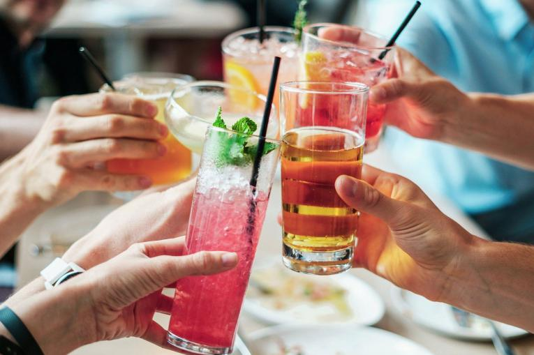 A group of people with drinks