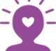 wellbeing purple icon